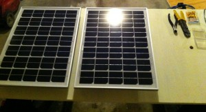 Two Panels Mounted